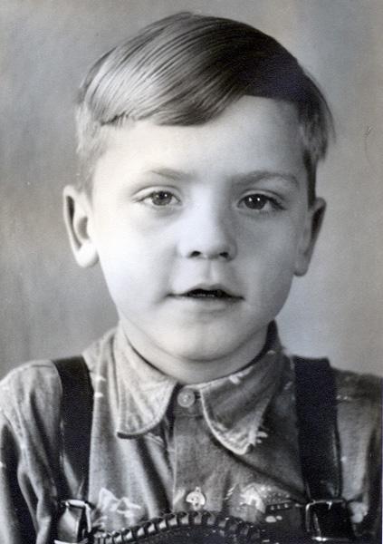 Walter Staib in Lederhosen, Pforzheim, Germany, 1952