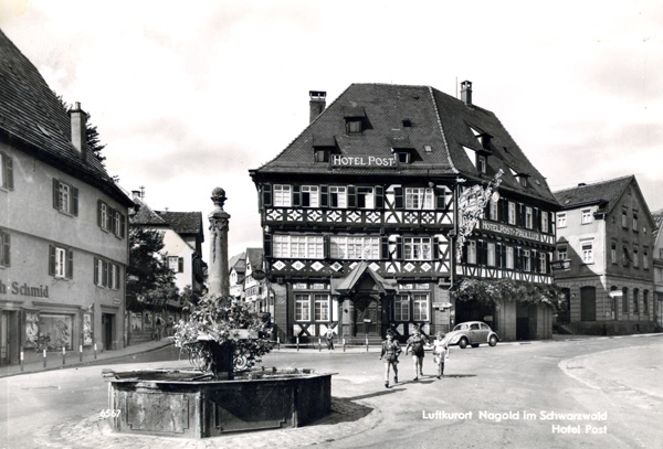 Hotel Alte Post, Nagold, early 1960s