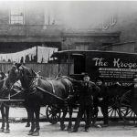 Kroger horse-drawn delivery wagon