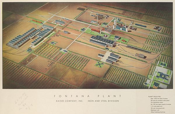 Fontana steel plant plan, isometric view
