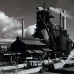 Blast furnace at Fontana steel plant