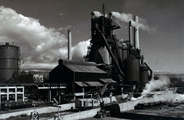 Blast furnace at Fontana steel plant