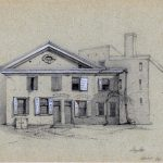Drawing of German School House, Philadelphia, 1861