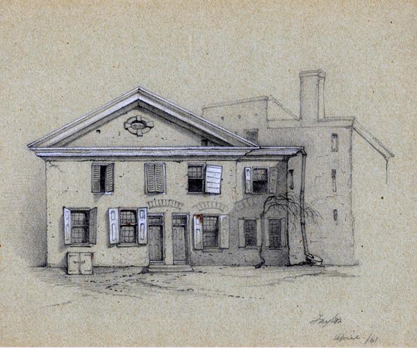 Drawing of German School House, Philadelphia, 1861