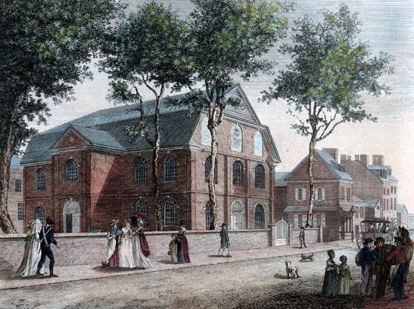Old Lutheran Church, in Fifth Street Philadelphia