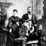William Steinway family portrait, 1874