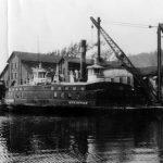 Steinway ferry boat docked at slip, Astoria, New York, n.d.