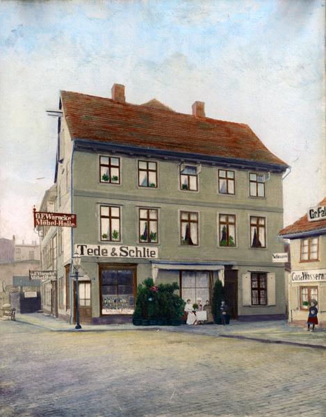 Tede & Schlie brewery located in Schwerin, n.d
