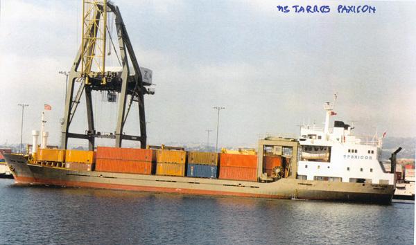 The Tarros Paxicon, a 105-container ship