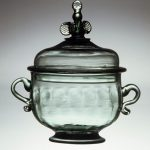 Sugar Bowl made by Caspar Wistar, Wistarburgh Glassworks, 1739-1777, Alloway, NJ