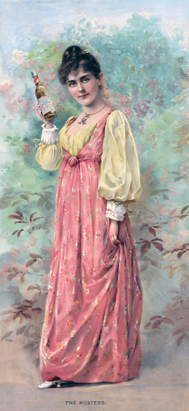 Hostess from Anheuser-Busch advertisement, ca. 1892