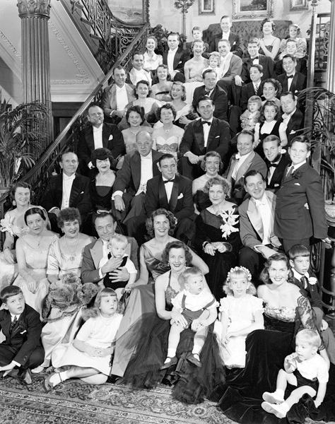 Portrait of fifty-one members of the Busch extended family, 1955