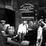 A worker at the New York Bar/Front Page Cabaret tries to accept a beer delivery from Anheuser-Busch