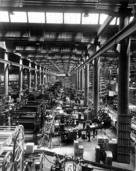 Packing and shipping area in the Bevo building, mid-to-late 1930s