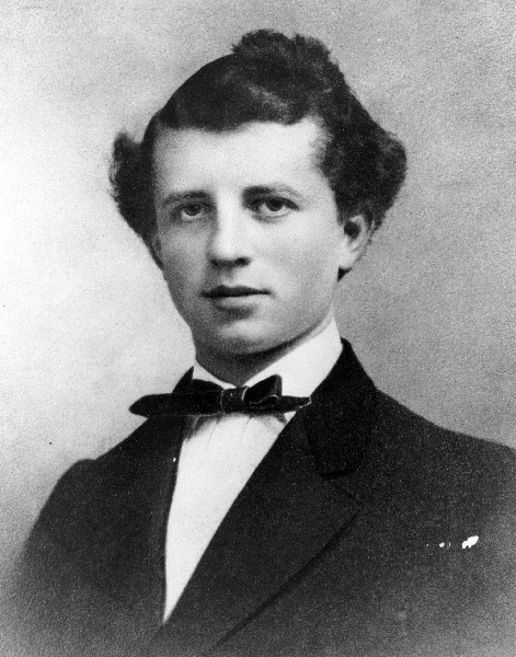 Portrait of Adolphus Busch as a young man, mid-1850s
