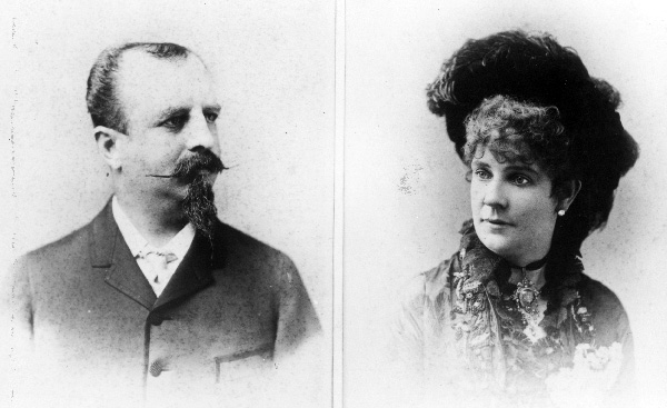 Portraits of Adolphus and Lilly Busch, ca. 1870