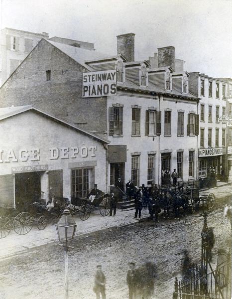 Steinway & Sons Wareroom, Walker Street, New York City, 1858