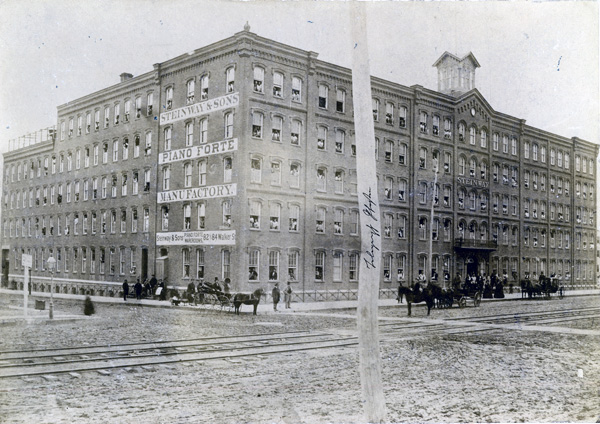 Steinway Factory on Fourth Avenue between Fifty-Second and Fifty-Third Streets, New York City, 1861
