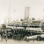 Emigrants boarding in Bremerhaven, 1928