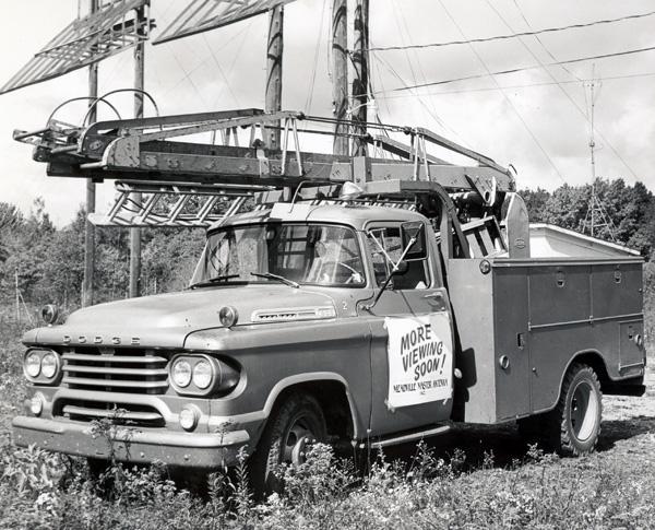 Meadville Master Antenna ladder truck, ca. 1960
