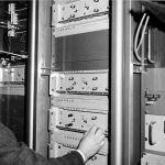 Jerrold headend equipment in use, 1960s