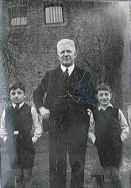 Aaron, Dan, his younger brother Franz, and their father Albert Aaron at their grandfather's farm in Germany in the 1930s