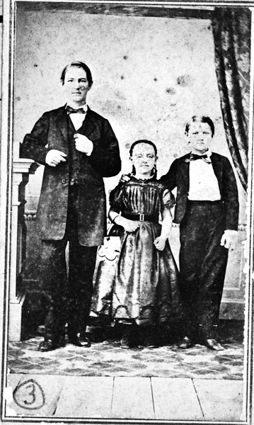 William and Mary Menger's three surviving children, n.d.