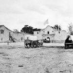 Alamo Plaza with Menger Hotel and Western Brewery, ca.1868