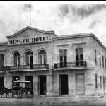Menger Hotel with carriage, ca. 1865