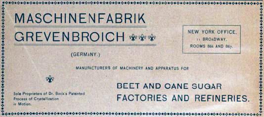 German Maschinenfabrik [engineering works] Grevenbroich advertisement
