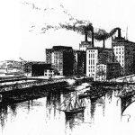 Largest sugar refinery in the world in Philadelphia, 1890
