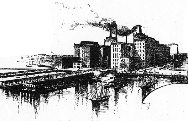Largest sugar refinery in the world in Philadelphia, 1890