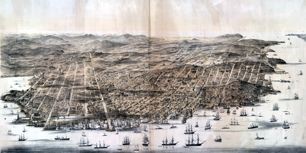 Bird's Eye Map of San Francisco, ca. 1864