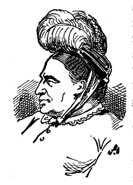 Drawing of Fredericka Mandelbaum
