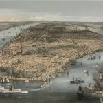 Birds-eye view of New York City, ca. 1856
